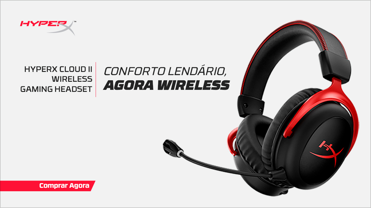 Headset HyperX Cloud II Wireless Preto