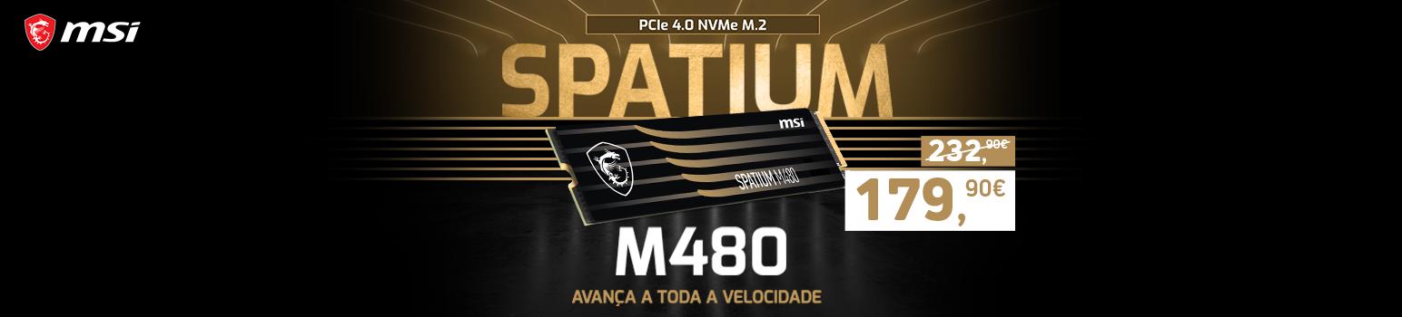 SSD M.2 2280 MSI Spatium M480 1TB 3D NAND NVMe