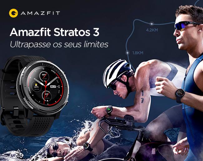 Amazfit Stratos 3 - Ultrapasse os seus limites