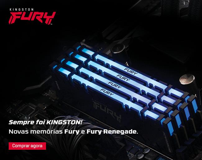 Kingston   Novas Memórias Fury e Fury Renegade