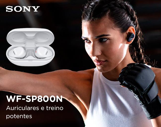 Sony WF-SP800N   Concebidos para um estilo de vida ativo