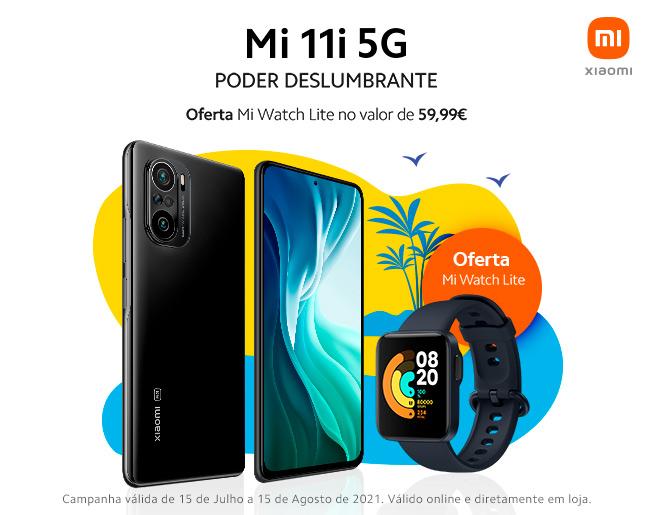 Compra um Xiaomi Mi 11i 5G e recebe de oferta um Mi Watch Lite