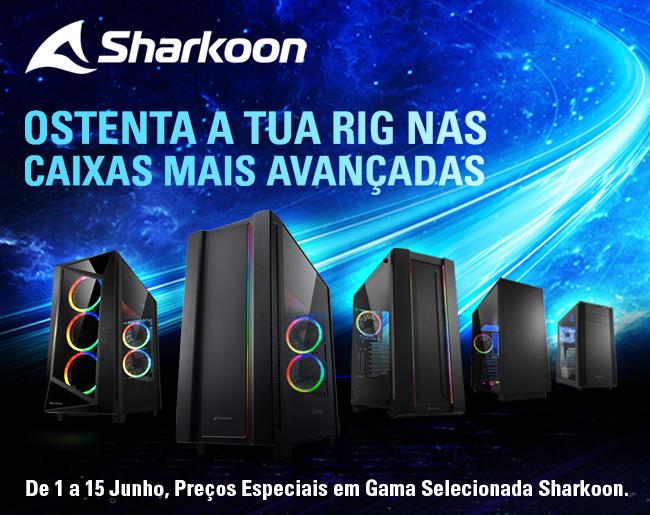 Até 15 de Junho Descontos Exclusivos em Gama Selecionada de Caixas Sharkoon