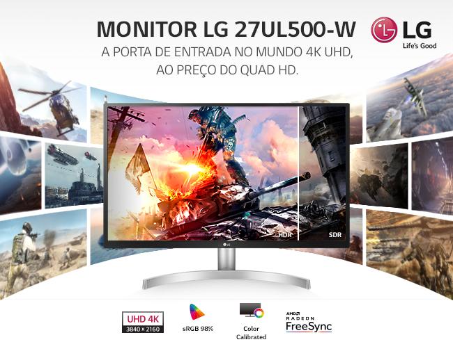 Monitor LG 27UL500-W IPS 27