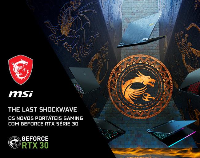 Novos Portáteis MSI Gaming com GeForce RTX Série 30