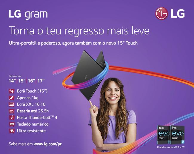 LG gram - Torna o teu regresso mais leve