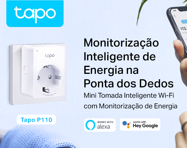 Tomada Inteligente TP-Link Tapo P110 Mini Smart Wi-Fi