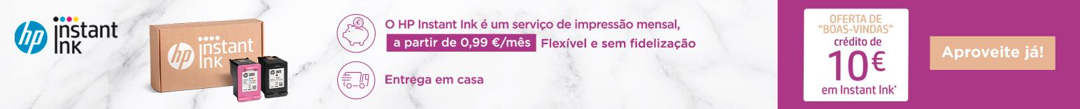 Serviço Instant Ink, a partir de 0,99€/Mês.