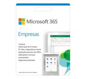 Cartão Microsoft 365 Business (Empresas), Subscrição 12 Meses, 1 Pessoa