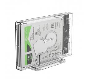 """Caixa Externa 2.5"""" Orico 2159U3 SATA I/II/III para USB 3.0 Micro-B Transparente"""