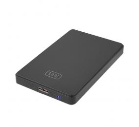 """Caixa Externa 2.5"""" 1Life hd:flux 3 SATA USB 3.0 Preta"""
