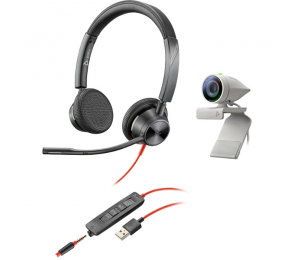 Kit Webcam Poly Studio P5 com Headset Blackwire 3325