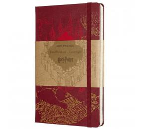 Caderno Grande Pautado Moleskine Harry Potter Marauder's Map Vermelho
