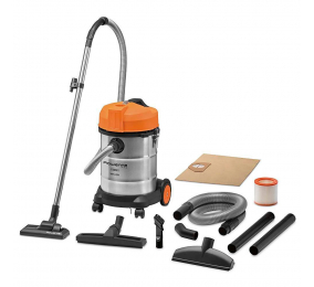 Aspirador Rowenta Pro Wet & Dry com Saco 1500W Stainless Steel / Orange