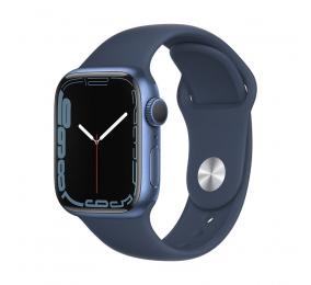 Apple Watch Series 7 GPS 41mm Alumínio Azul c/ Bracelete Desportiva Azul Abissal