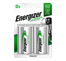 Pilhas Recarregáveis Energizer Power Plus 1.2V HR20 D (2 Unidades)