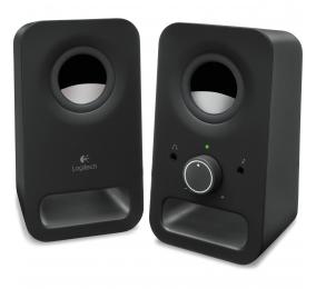 Colunas Logitech Z150 Compact Stereo 2.0 6W Peak / 3W RMS Pretas