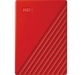 "Disco Externo 2.5"" Western Digital My Passport 2TB USB 3.2 Vermelho"
