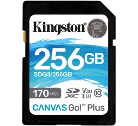 Cartão Memória Kingston Canvas Go! Plus C10 UHS-I U3 V30 SDXC 256GB