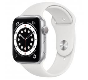 Apple Watch Series 6 GPS 44mm Alumínio Prateado c/ Bracelete Desportiva Branca