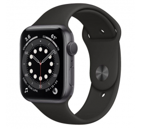 Apple Watch Series 6 GPS+Cellular 44mm Alumínio Cinzento Sideral c/ Bracelete Desportiva Preta