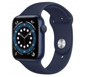 Apple Watch Series 6 GPS 44mm Alumínio Azul c/ Bracelete Desportiva Azul Profundo