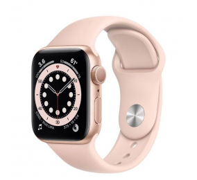 Apple Watch Series 6 GPS 40mm Alumínio Dourado c/ Bracelete Desportiva Rosa-Areia