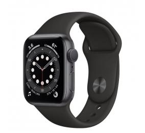 Apple Watch Series 6 GPS 40mm Alumínio Cinzento Sideral c/ Bracelete Desportiva Preta
