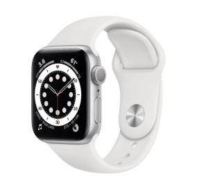 Apple Watch Series 6 GPS 40mm Alumínio Prateado c/ Bracelete Desportiva Branca