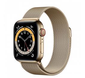 Apple Watch Series 6 GPS+Cellular 40mm Aço Dourado c/ Bracelete Milanesa Dourada