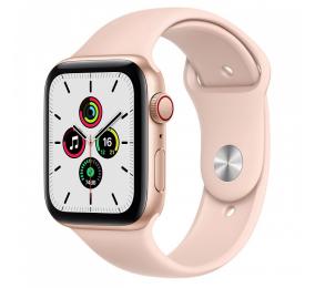 Apple Watch SE GPS+Cellular 44mm Alumínio Dourado c/ Bracelete Desportiva Rosa-Areia