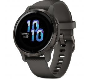 Smartwatch Garmin Venu 2S Aço Inoxidável Cinzento Ardósia com Caixa Grafite e Bracelete Silicone