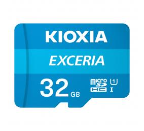 Cartão Memória Kioxia Exceria C10 UHS-I U1 microSDHC 32GB + Adaptador SD