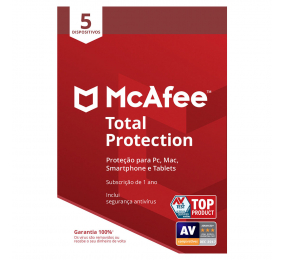 Software McAfee Total Protection 5 Dispositivos 1 Ano