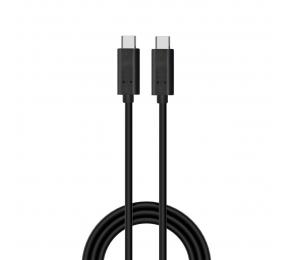 Cabo USB-C Ewent EC1045 PD 60W 10Gbps 4K 1m Preto