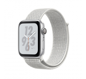 Apple Watch Nike+ Series 4 GPS 44mm Alumínio Cinzento Sideral c/ Bracelete Loop Desp. Branco-Concha