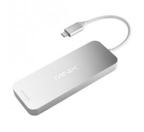 SSD Externo Minix NEO-S1GR 120GB M.2 2280 c/ Hub USB-C Multiporta