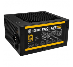 Fonte de Alimentação Kolink Enclave 600W 80PLUS Gold Full Modular