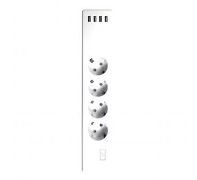 Extensão Energizer Smart Multiport 4 x Tomadas & 4 x USB