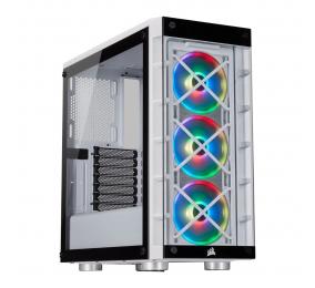 Caixa ATX Corsair iCUE 465X RGB Vidro Temperado Branca
