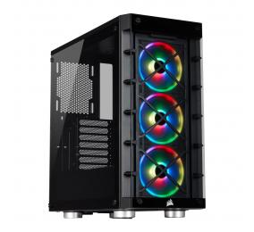 Caixa ATX Corsair iCUE 465X RGB Vidro Temperado Preta