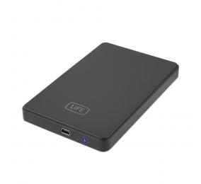 """Caixa Externa 2.5"""" 1Life hd:flux 2 SATA USB 2.0 Preta"""