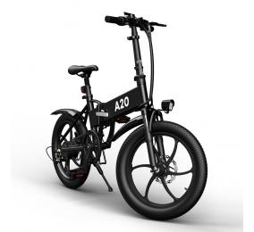 Bicicleta Elétrica ADO A20 Cross-Country Folding EBike Preta
