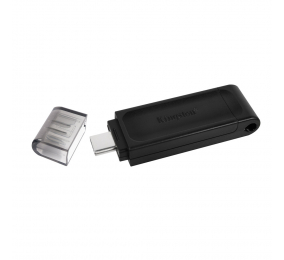 Pen Drive Kingston DataTraveler 70 128GB USB 3.2 Gen1 Preta