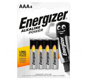 Pilhas Alcalinas Energizer Alkaline Power 1.5V LR03 AAA (4 Unidades)