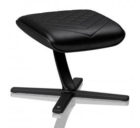Apoio de Pés Noblechairs PU Leather Preto