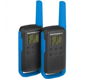Walkie Talkie Motorola TLKR T62 (16 Canais, 8Km) Azul - Pack 2