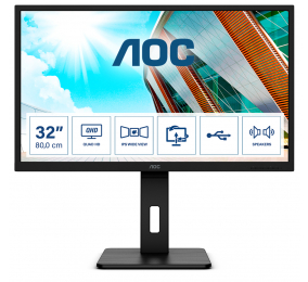 "Monitor AOC Q32P2 IPS 31.5"" QHD 16:9 75Hz FreeSync"