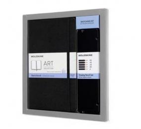 Bundle Moleskine - Caderno de Desenho Grande + Caixa com 5 Lápis Carvão