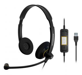 Headset Sennheiser SC 60 USB ML Preto